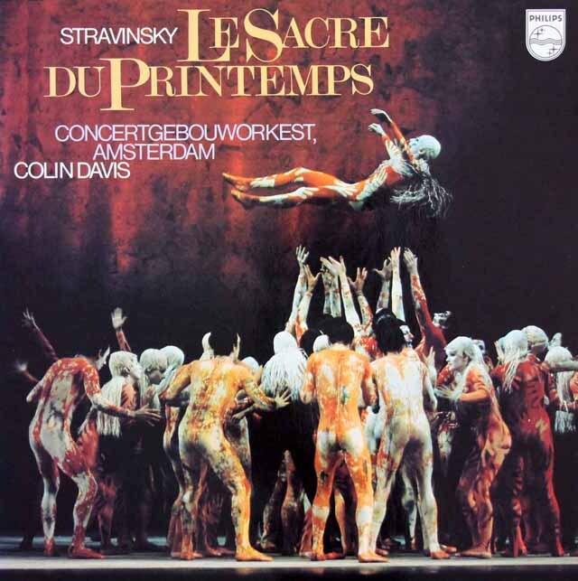 デイヴィスのストラヴィンスキー/「春の祭典」  蘭PHILIPS 3317 LP レコード