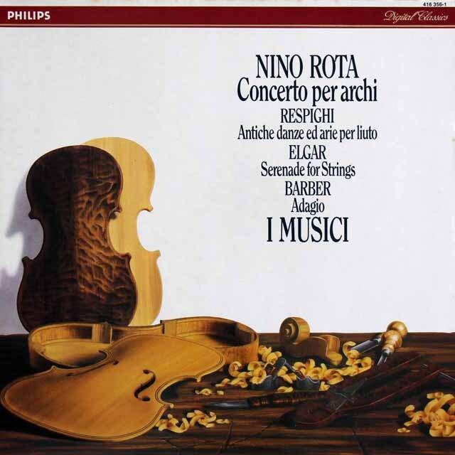 イ・ムジチ合奏団のレスピーギ/リュートのための古風な舞曲とアリア第3組曲ほか 蘭PHILIPS 3317 LP レコード