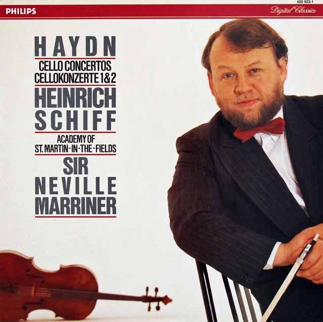 シフ&マリナーのハイドン/チェロ協奏曲第1&2番 蘭PHILIPS 3317 LP レコード
