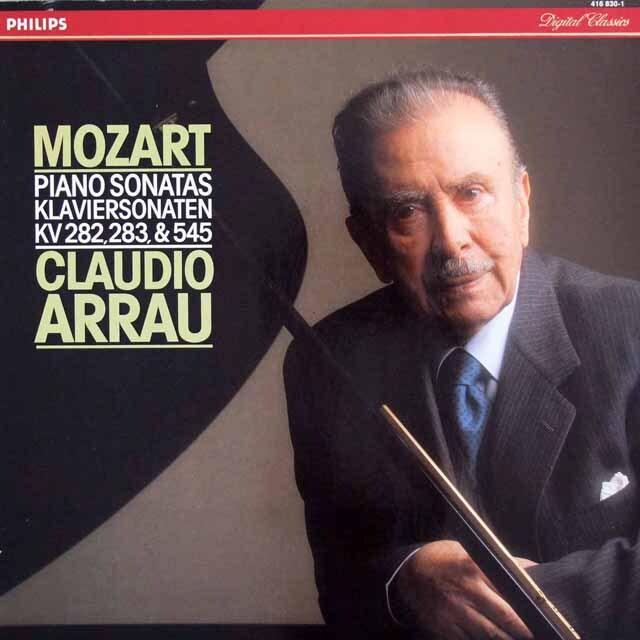 アラウのモーツァルト/ピアノソナタ第4, 5 & 15番  蘭PHILIPS 3317 LP レコード