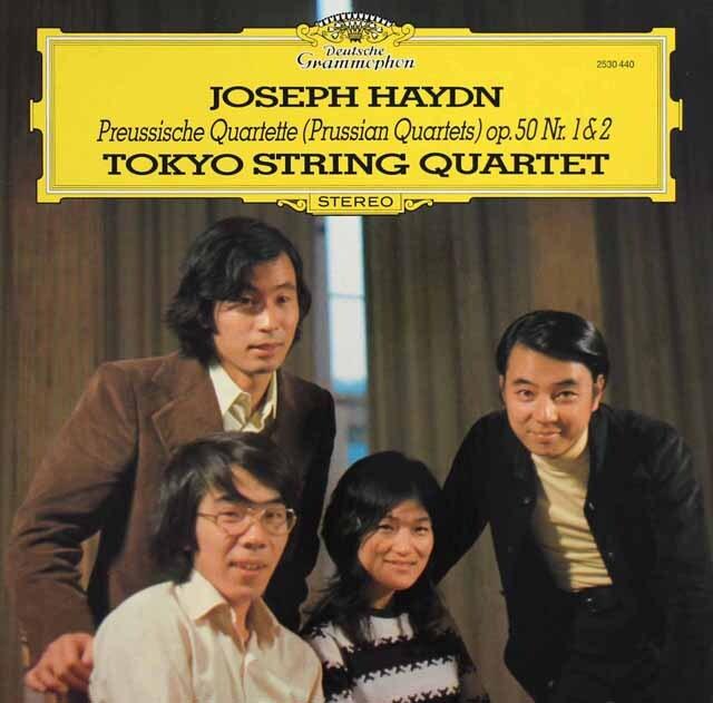 東京クヮルテットのハイドン/弦楽四重奏曲第44、45番 独DGG 3317 LP レコード