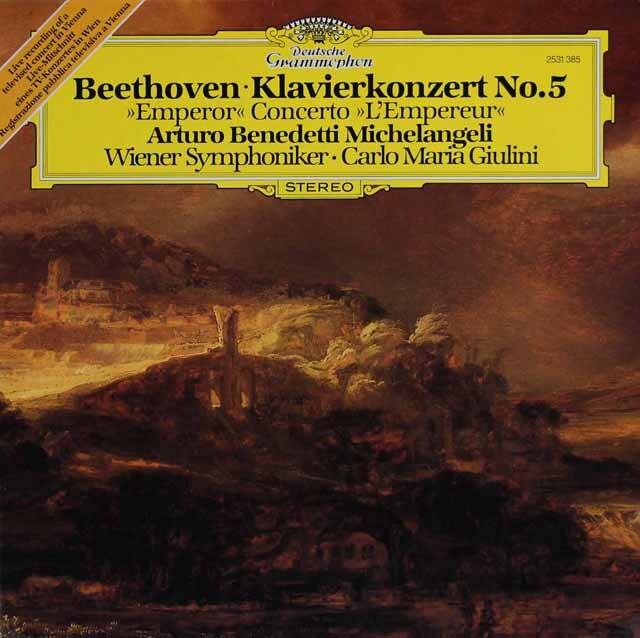 ミケランジェリ&ジュリーニのベートーヴェン/ピアノ協奏曲第5番「皇帝」 独DGG 3317 LP レコード