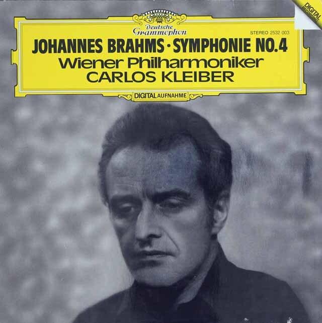 クライバーのブラームス/交響曲第4番 独DGG 3317 LP レコード
