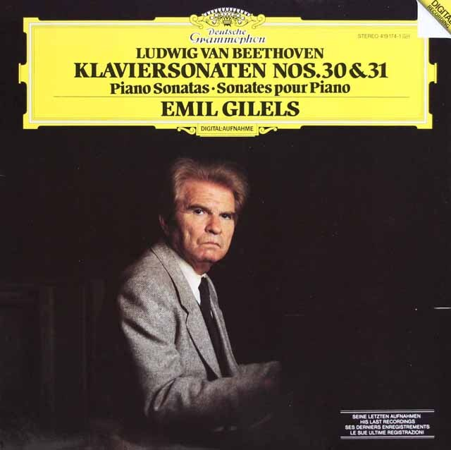 【ラストレコーディング】 ギレリスのベートーヴェン/ピアノソナタ第30、31番 独DGG 3317 LP レコード