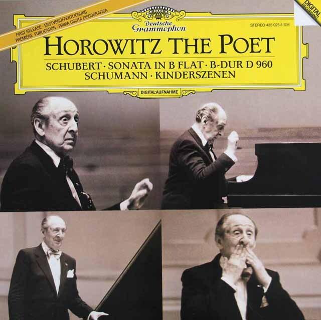 ホロヴィッツのシューベルト/ピアノソナタ第21番ほか 蘭DGG 3317 LP レコード