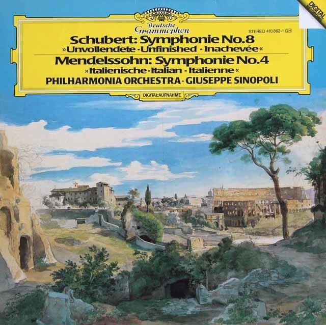 シノーポリのシューベルト/交響曲第8番「未完成」ほか 独DGG 3317 LP レコード
