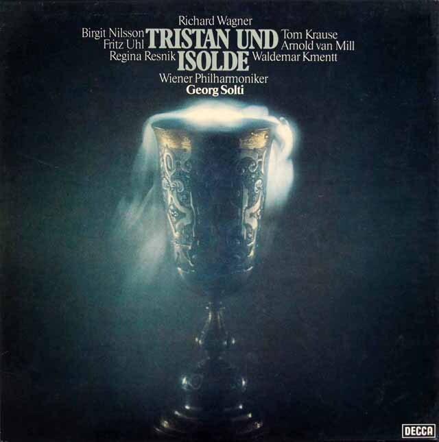 【直筆サイン入り】 ショルティのワーグナー/「トリスタンとイゾルデ」全曲 独DECCA 3317 LP レコード