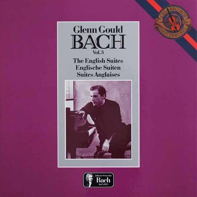 グールドのバッハ/イギリス組曲 蘭CBS 3317 LP レコード
