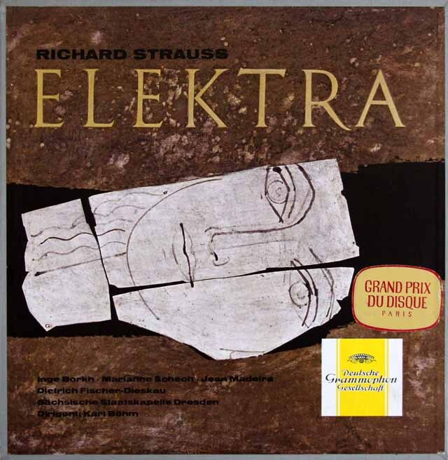【独最初期盤】 ベームのR.シュトラウス/「エレクトラ」全曲 独DGG 3317 LP レコード
