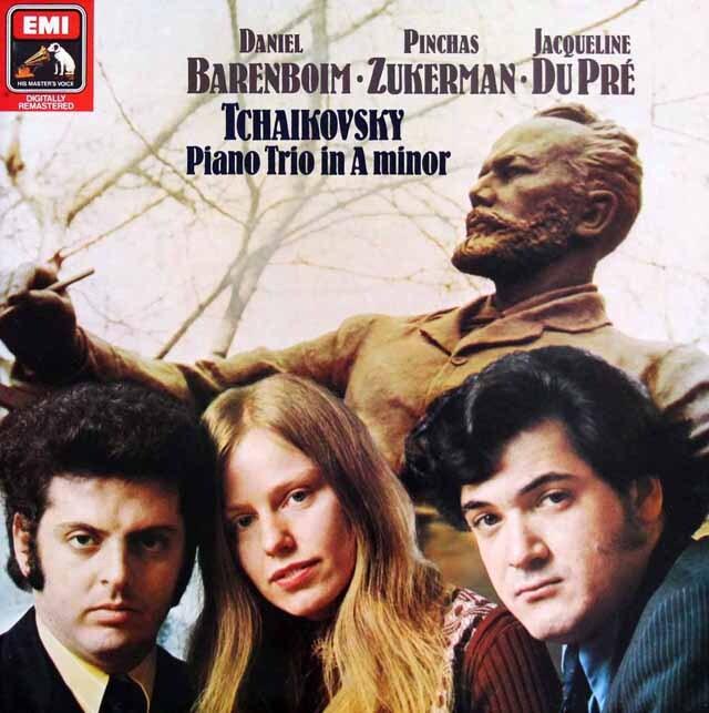 【オリジナル盤】 デュ・プレ、バレンボイム、ズッカーマンのチャイコフスキー/ピアノ三重奏曲「偉大な芸術家の思い出」 独EMI 3318 LP レコード