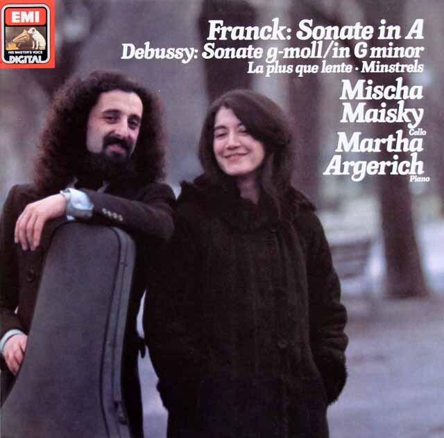 マイスキー&アルゲリッチのフランク/チェロソナタほか 独EMI 3318 LP レコード