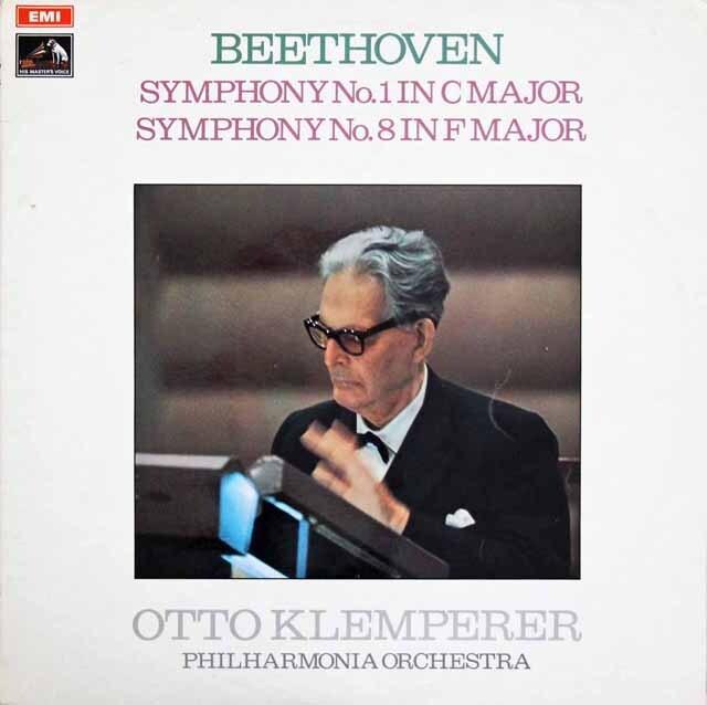 クレンペラーのベートーヴェン/交響曲第1、8番 英EMI 3318 LP レコード