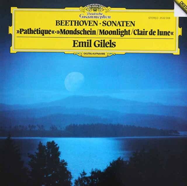 ギレリスのベートーヴェン/ピアノソナタ第14番「月光」ほか DGG 3318 LP レコード