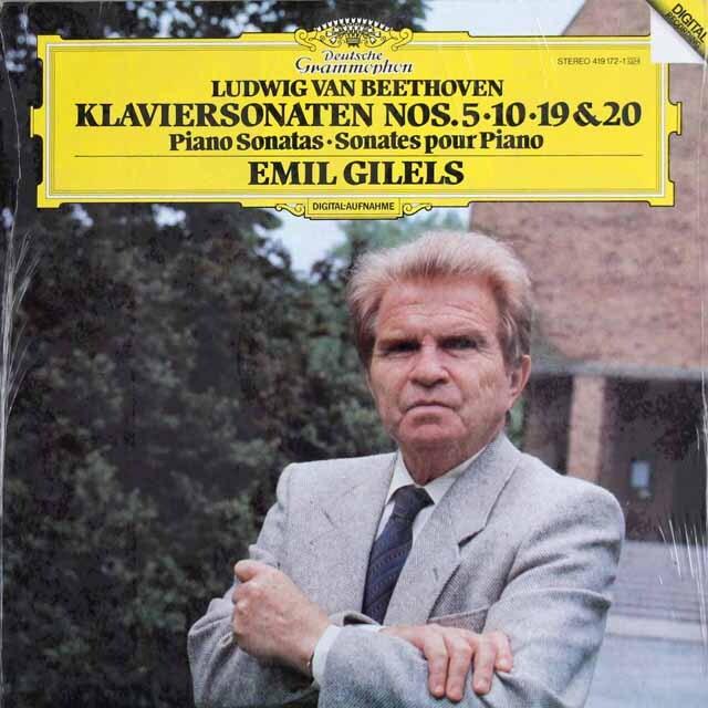 ギレリスのベートーヴェン/ピアノソナタ第5、10、19、20番 独DGG 3318 LP レコード