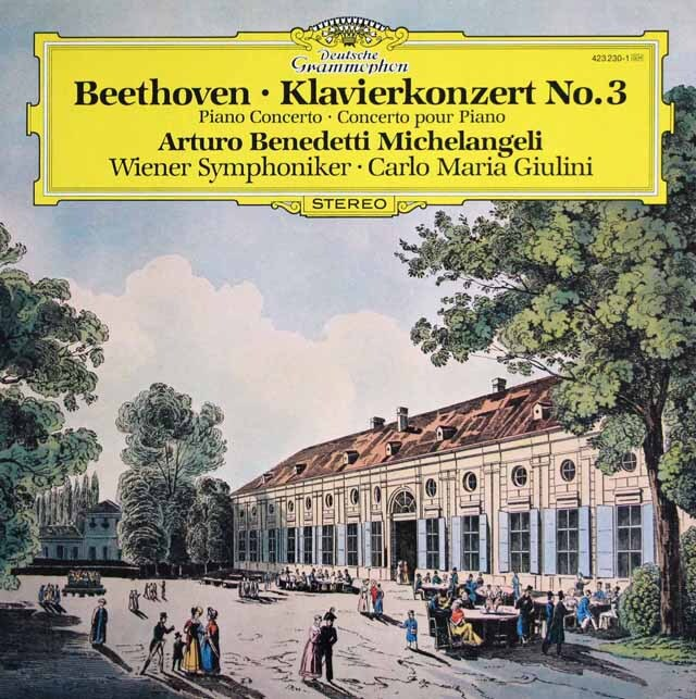 ミケランジェリ、ジュリーニのベートーヴェン/ピアノ協奏曲第3番 独DGG 3318 LP レコード