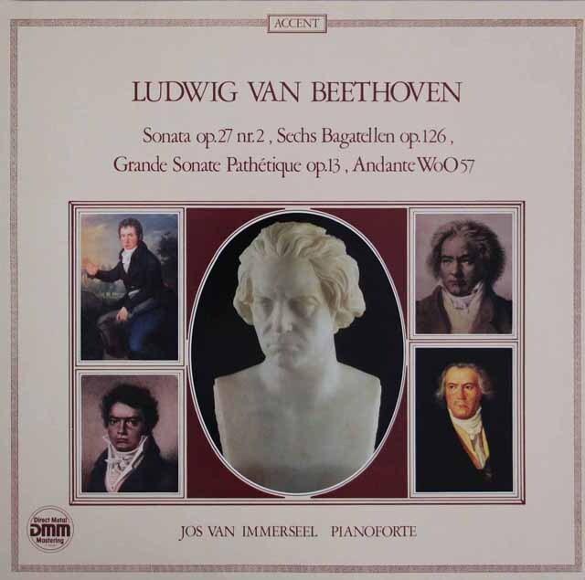 インマゼールのベートーヴェン/ピアノフォルテのためのソナタ集 独ACCENT 3318 LP レコード