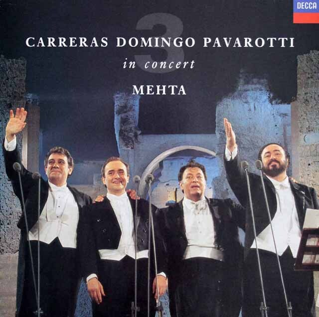 三大テナー&メータのローマ・カラカラ・コンサート 蘭DECCA 3318 LP レコード