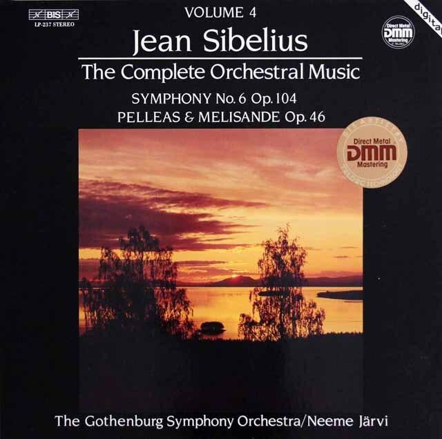 ヤルヴィのシベリウス/交響曲第6番ほか 独BIS 3318 LP レコード