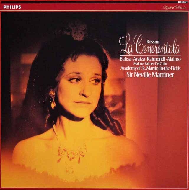 マリナーのロッシーニ/「チェネレントラ」(シンデレラ)全曲 蘭PHILIPS 3318 LP レコード