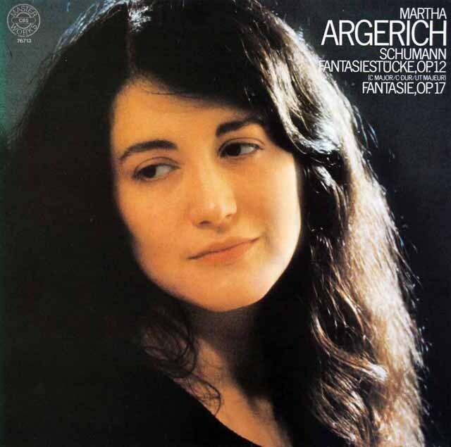 アルゲリッチのシューマン/幻想曲&幻想小曲集 独CBS 3318 LP レコード