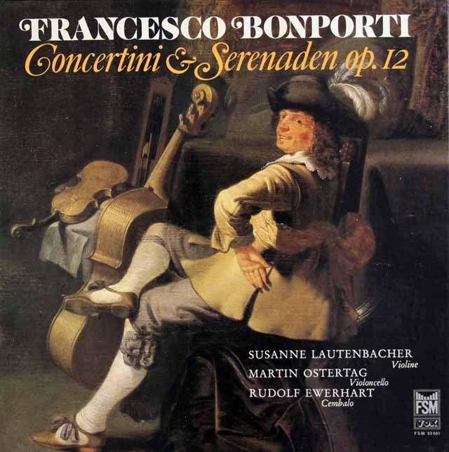 ラウテンバッハーらのボンポルティ/「コンチェルティーノとセレナータ」 独FSM 3318 LP レコード
