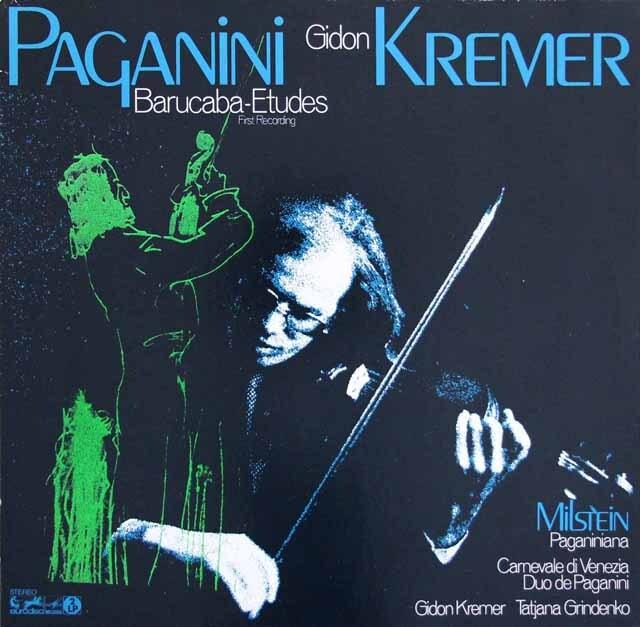 クレーメルのパガニーニ/「バルカバ」による60の変奏曲ほか 独eurodisc 3318 LP レコード