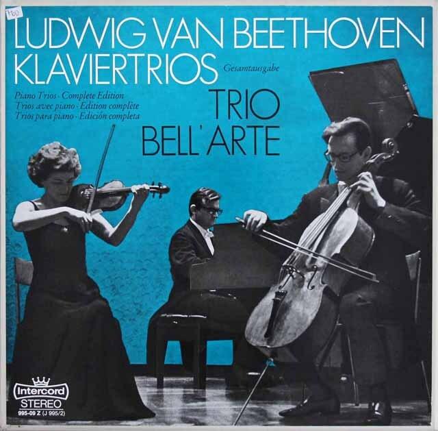 ラウテンバッハーらベルアルテ・トリオのベートーヴェン/ピアノ三重奏曲集 独intercord 3318 LP レコード