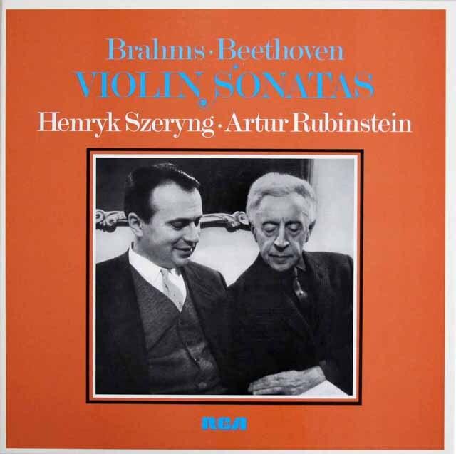 シェリング&ルービンシュタインのヴァイオリンソナタ集 独RCA 3318 LP レコード