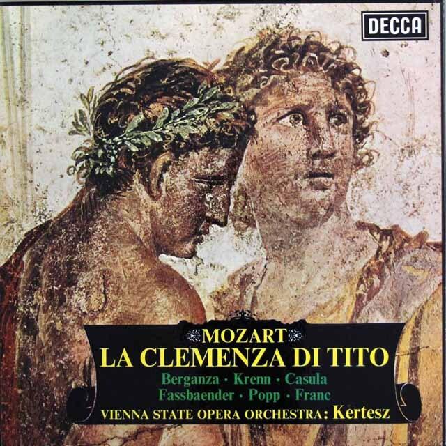 ベルガンサ、ケルテスのモーツァルト/「皇帝ティートの慈悲」全曲 英DECCA 3318 LP レコード