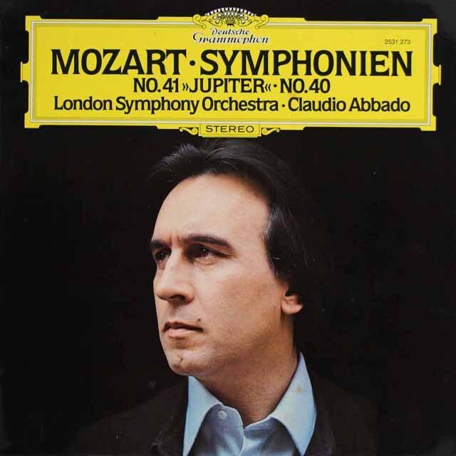アバドのモーツァルト/交響曲第40番&第41番「ジュピター」 独DGG 3319 LP レコード