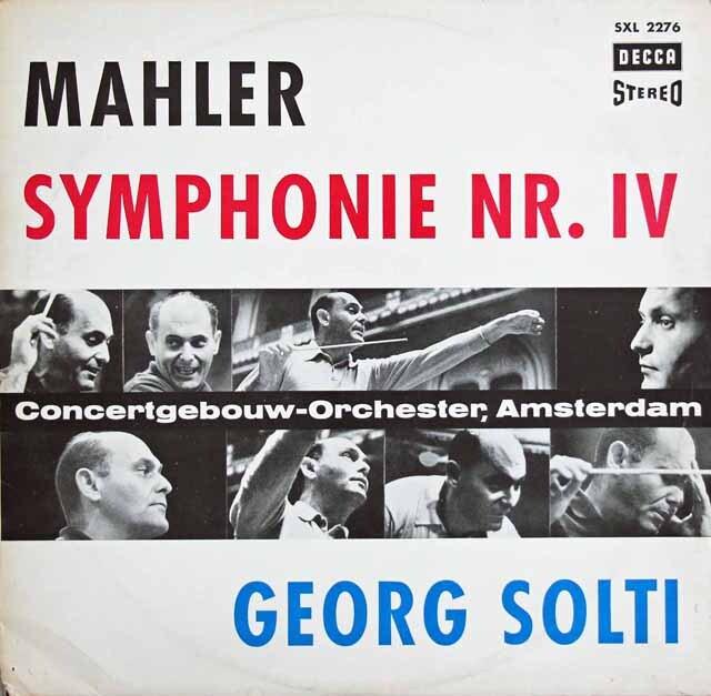ショルティのマーラー/交響曲第4番 独DECCA 3319 LP レコード