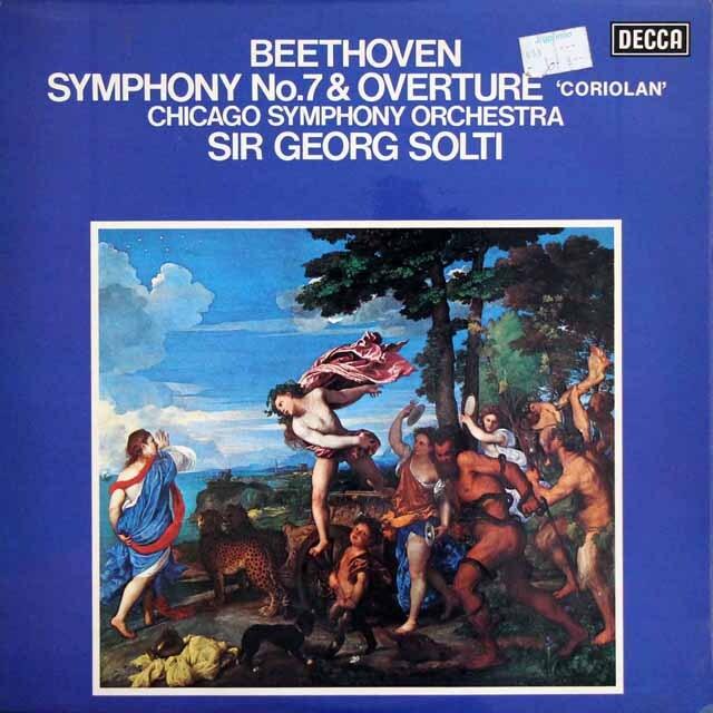 【オリジナル盤】 ショルティのベートーヴェン/交響曲第7番ほか   英DECCA 3319 LP レコード