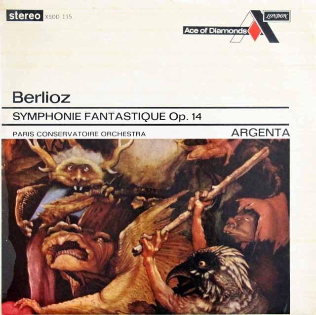 アルヘンタのベルリオーズ/幻想交響曲 英DECCA 3319 LP レコード
