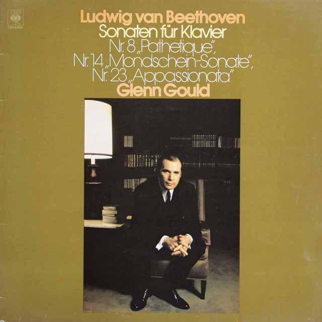 グールドのベートーヴェン/「悲愴」、「月光」、「熱情」 蘭CBS 3319 LP レコード
