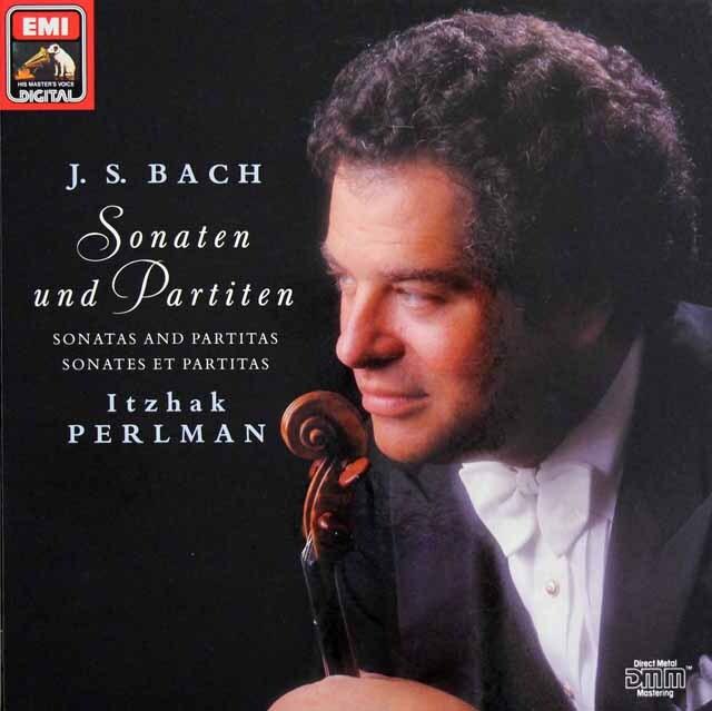 パールマンのバッハ/無伴奏ヴァイオリンのためのソナタとパルティータ集 独EMI 3319 LP レコード