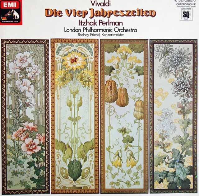 パールマンのヴィヴェルディ/「四季」 独EMI 3319 LP レコード