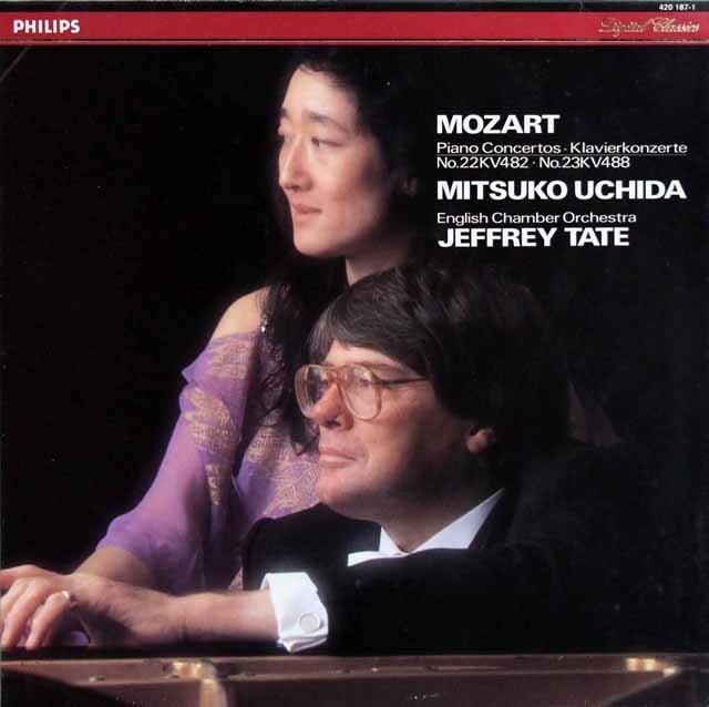 内田、テイトのモーツァルト/ピアノ協奏曲第22、23番 蘭PHILIPS 3319 LP レコード