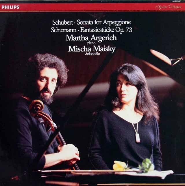 アルゲリッチ&マイスキーのシューベルト/「アルペジョーネ・ソナタ」ほか 蘭PHILIPS 3319 LP レコード