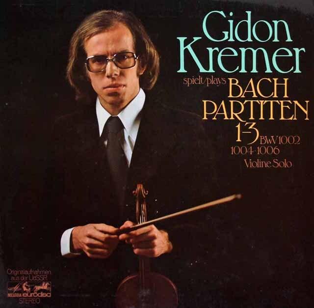 クレーメルのバッハ/パルティータ(第1番~第3番) 独eurodisc 3319 LP レコード