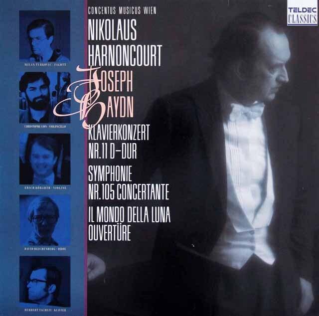 タヘッツィ&アーノンクールのハイドン/ピアノ協奏曲 第11番ほか 独TELDEC 3319 LP レコード