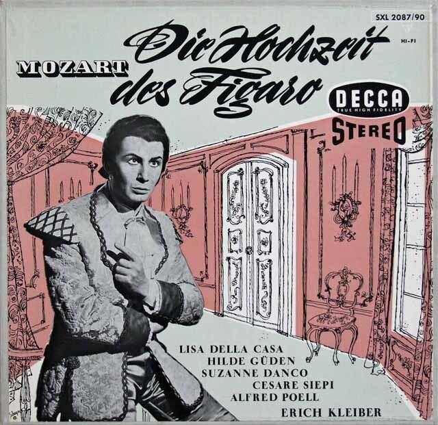 【独最初期盤】 エーリヒ・クライバーのモーツァルト/「フィガロの結婚」 独DECCA 3319 LP レコード