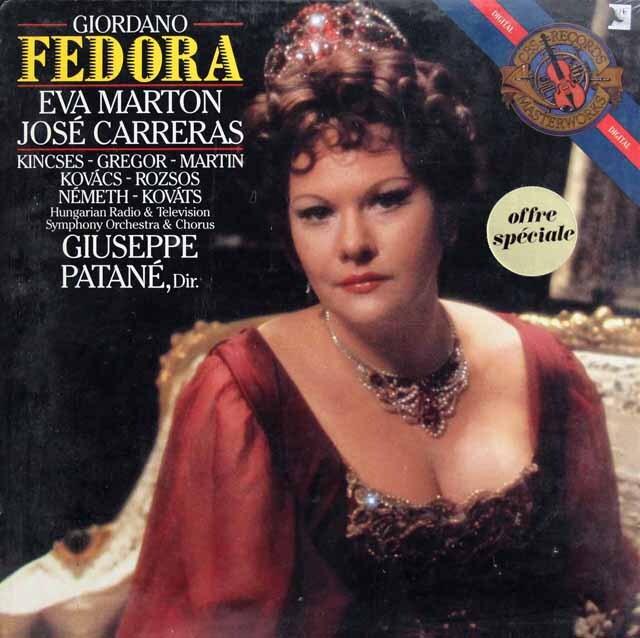 【未開封】 カレーラス&マルトンのジョルダーノ/「フェドーラ」全曲 蘭CBS 3319 LP レコード