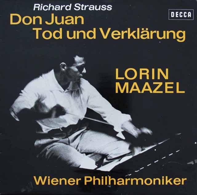 マゼールのR.シュトラウス/「ドン・ファン」&「死と浄化」 独DECCA 3297 LP レコード