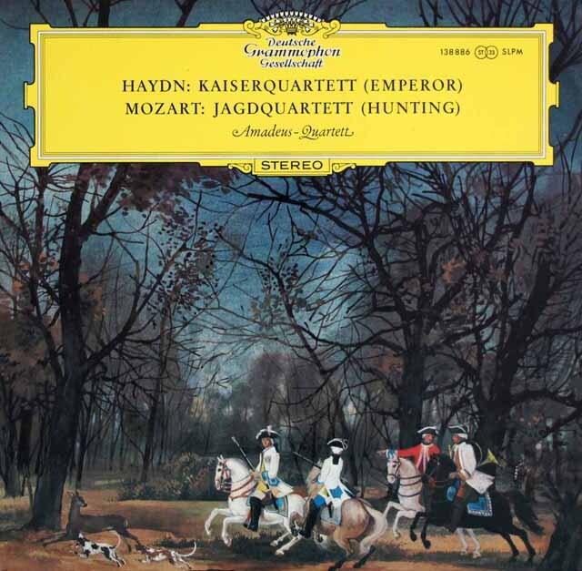アマデウス四重奏団のハイドン/「皇帝」&モーツァルト/「狩」 独DGG 3323 LP レコード