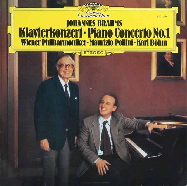 ポリーニ&ベームのブラームス/ピアノ協奏曲第1番 独DGG 3320 LP レコード