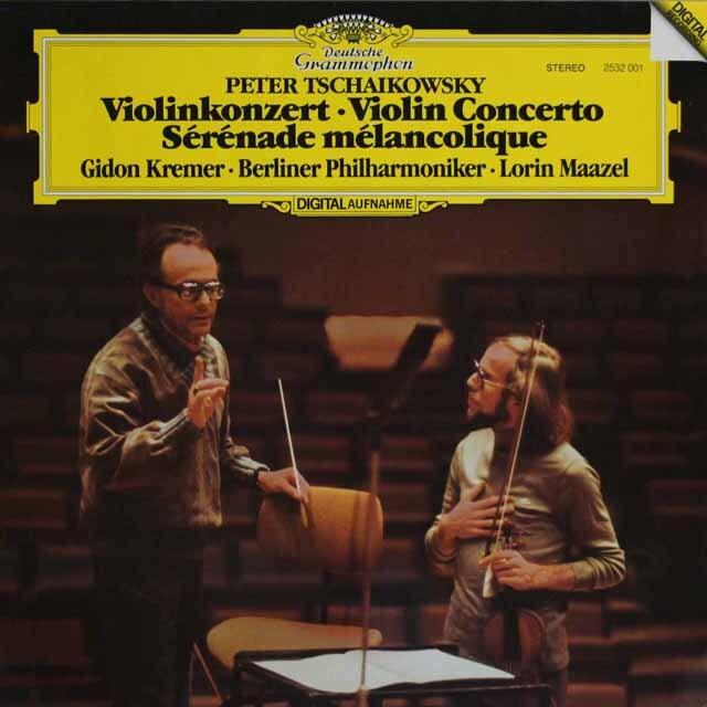 クレーメル&マゼールのチャイコフスキー/ヴァイオリン協奏曲ほか 独DGG 3320 LP レコード