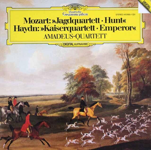 アマデウス四重奏団のハイドン/「皇帝」&モーツァルト/「狩」 独DGG 3324 LP レコード