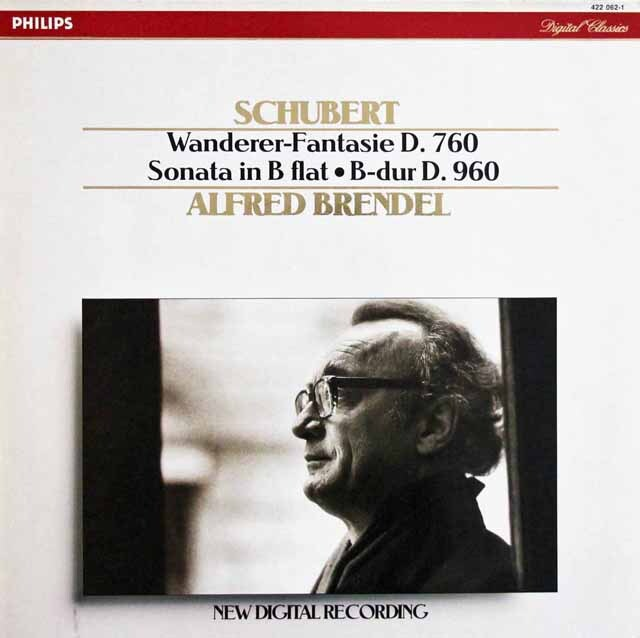 ブレンデルのシューベルト/「さすらい人幻想曲」ほか 蘭PHILIPS 3320 LPレコード
