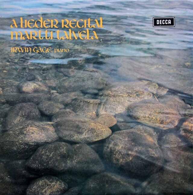 【オリジナル盤】 タルヴェラのシューマン/「12の歌曲」(作品35)ほか 英DECCA 3320 LP レコード