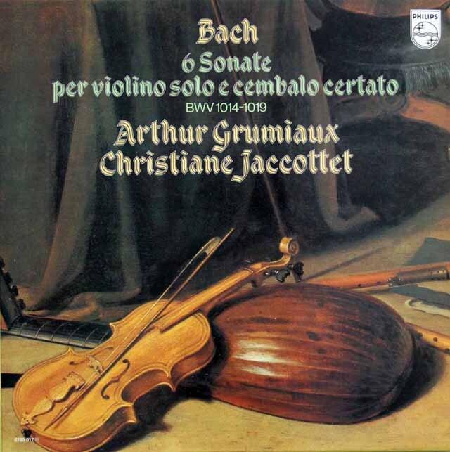 グリュミオー&ジャコッテのバッハ/ヴァイオリンとチェンバロのためのソナタ集 蘭PHILIPS 3320 LP レコード